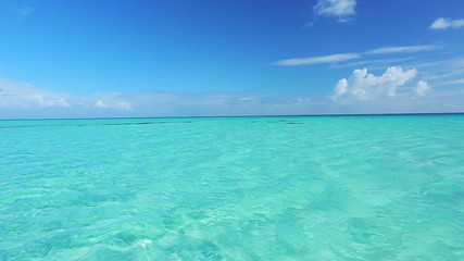tropical blue ocean. 1080p hd video, smooth motion pan.
