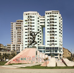 Monument Unknown soldier in Durres. Albania