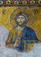 Christian mosaic icon of Jesus Christ