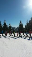 Skifahrer sm Lift