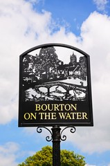 Bourton On The Water sign © Arena Photo UK