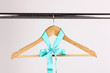 Beautiful turquoise bow hanging