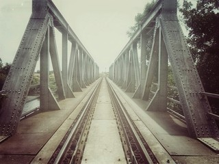 Retro train bridge
