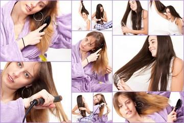 femme et ses cheveux