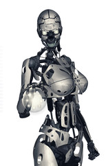 robot e sfera di energia