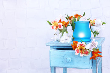 Bright icon-lamp with flowers