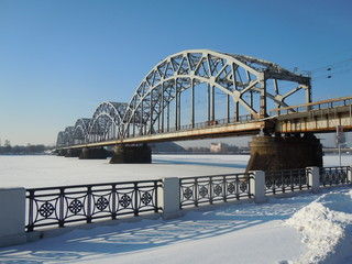 Railway bridge (Riga, Latvia)