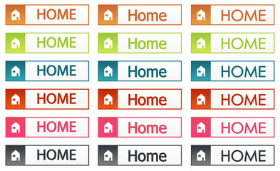 Colorful home buttons set