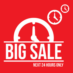 24 Hours Big Sale Design Element