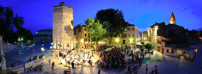 ZADAR, CROATIA - June 14 - Five wells square in Zadar, Croatia -