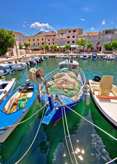 Island of Pag idyllic harbor