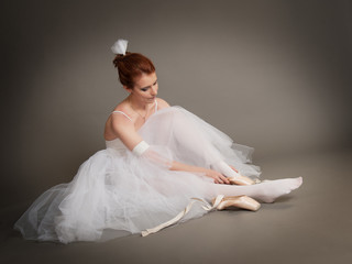 dancer wears pointes