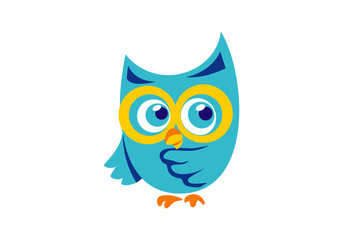 bird owl knowledge cartoon vector