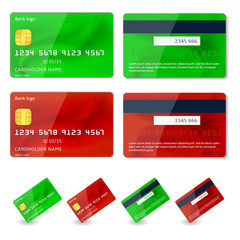 Vector credit cards design