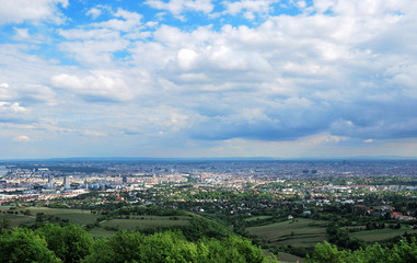 Panorama of the City of Vienna, Austria