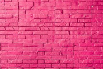 Magenta Rough Brick Wall Background/ Texture