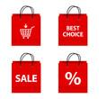 Set of shopping bag icons