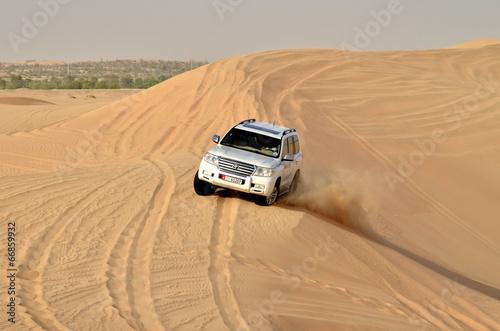 Plexiglas Dubai Jeep safari around Dubai; UAE