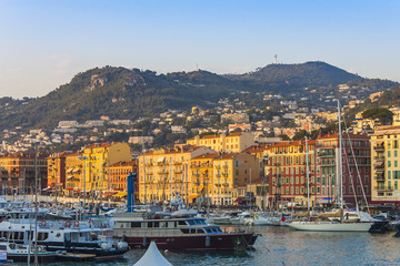 Nice, France. City port of Nice