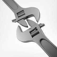 Adjustable metal wrench
