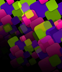 Abstract Colored Squares Background