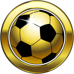 Goldener Fussball - Button