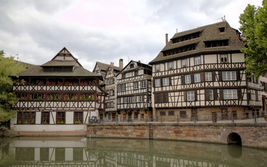 "Timber framing houses of district ""la Petite France"". Strasbourg"