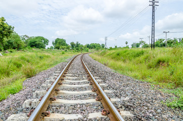 Railway in the Contryside of Thailand