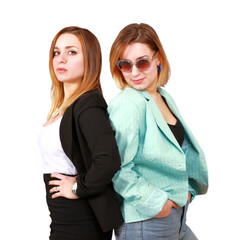 Two young women with attitude