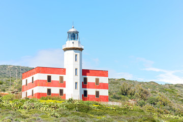 Capel Rosso's lighthouse, Giglio island, Italy