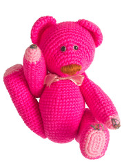 pink teddy bear stuffed toy