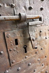 Detail of old iron door