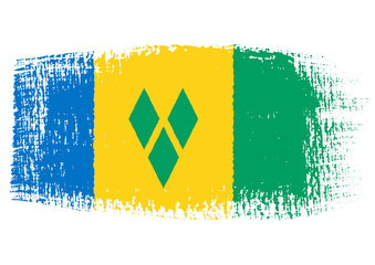 brushstroke flag Saint Vincent and the Grenadines
