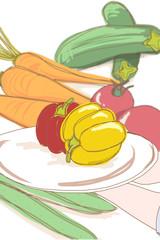 野菜のイメージイラスト パプリカ