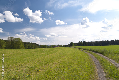 canvas print picture Landscape in Upper Palatinate, Germany