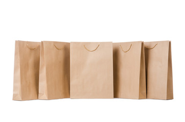 Shopping bags isolated on the white