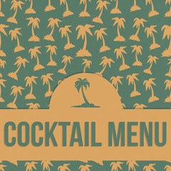 Retro Cocktail Menu Cover