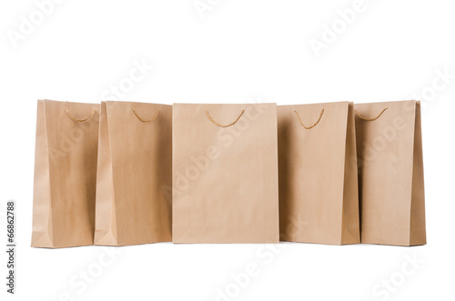 canvas print picture Shopping bags isolated on the white