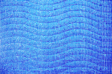 blue swimming pool with waves