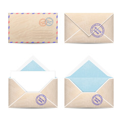 Set of vintage envelopes