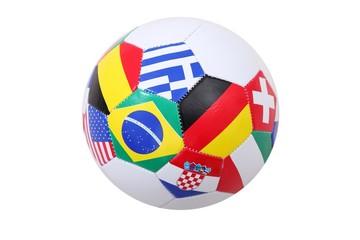 Fußball mit Länderflaggen (isoliert)