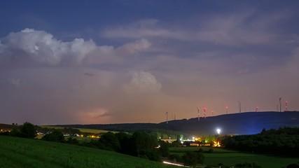 Lightning Strikes Timelapse 4K Panning