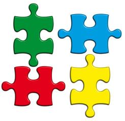 pièces couleur de puzzle