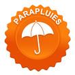 parapluies sur bouton web denté orange