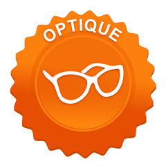 optique sur bouton web denté orange