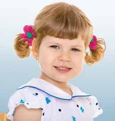 lovely smiling toddler portrait