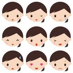 成人女性 表情 アイコン
