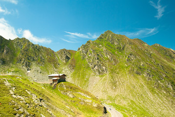 Transfagarasan - mountain road in Romanian Carpathians