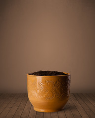Flowerpot with copy space