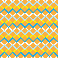 Orange zigzag chevron retro seamless pattern